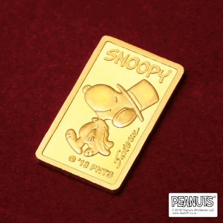SNOOPY INGOD スヌーピー 純金 インゴッド(5g)