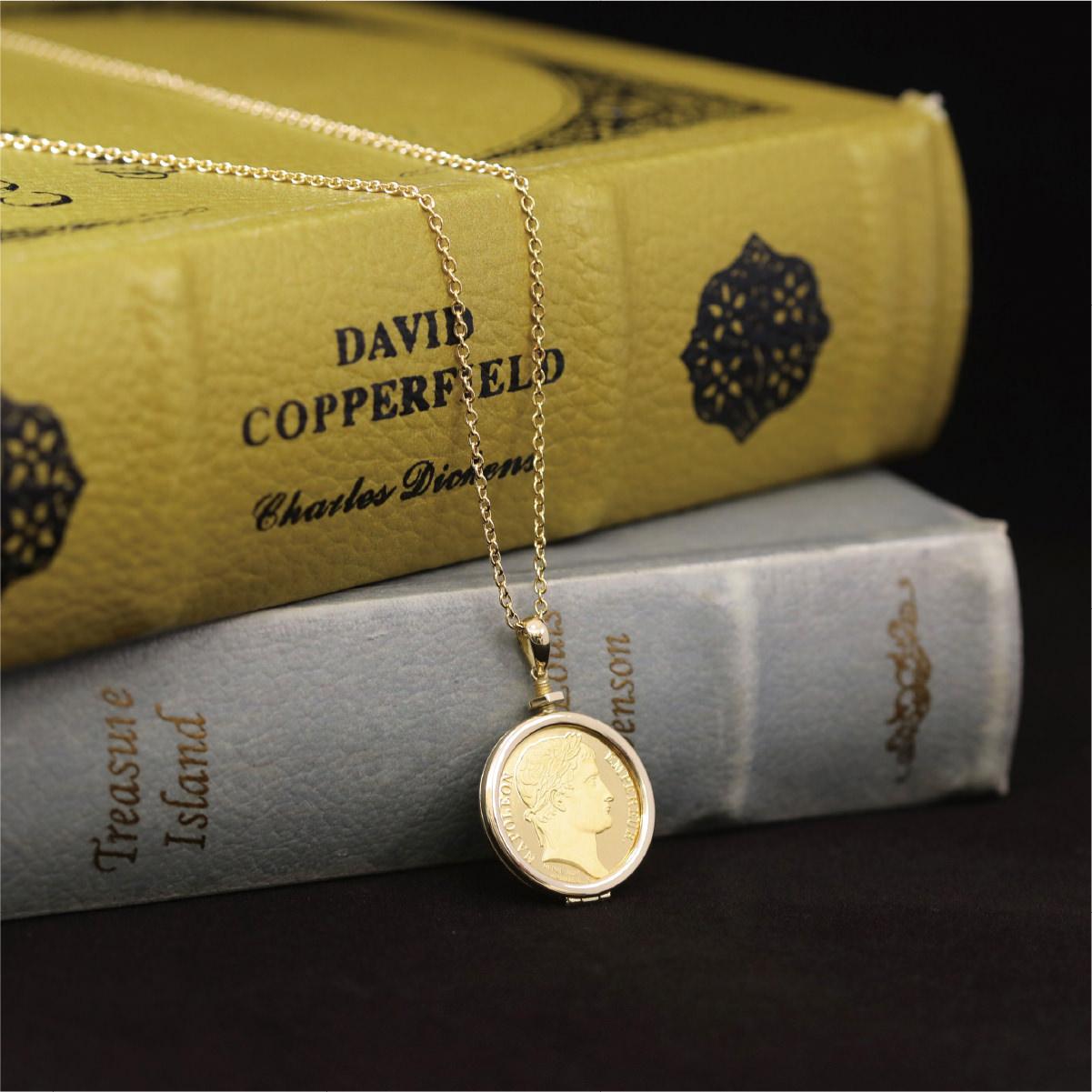 「ナポレオン」 純金メダル ペンダント