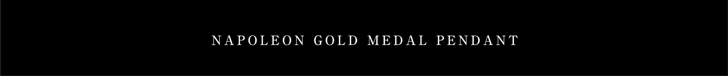 NAPOLEON GOLD MEDAL PENDANT