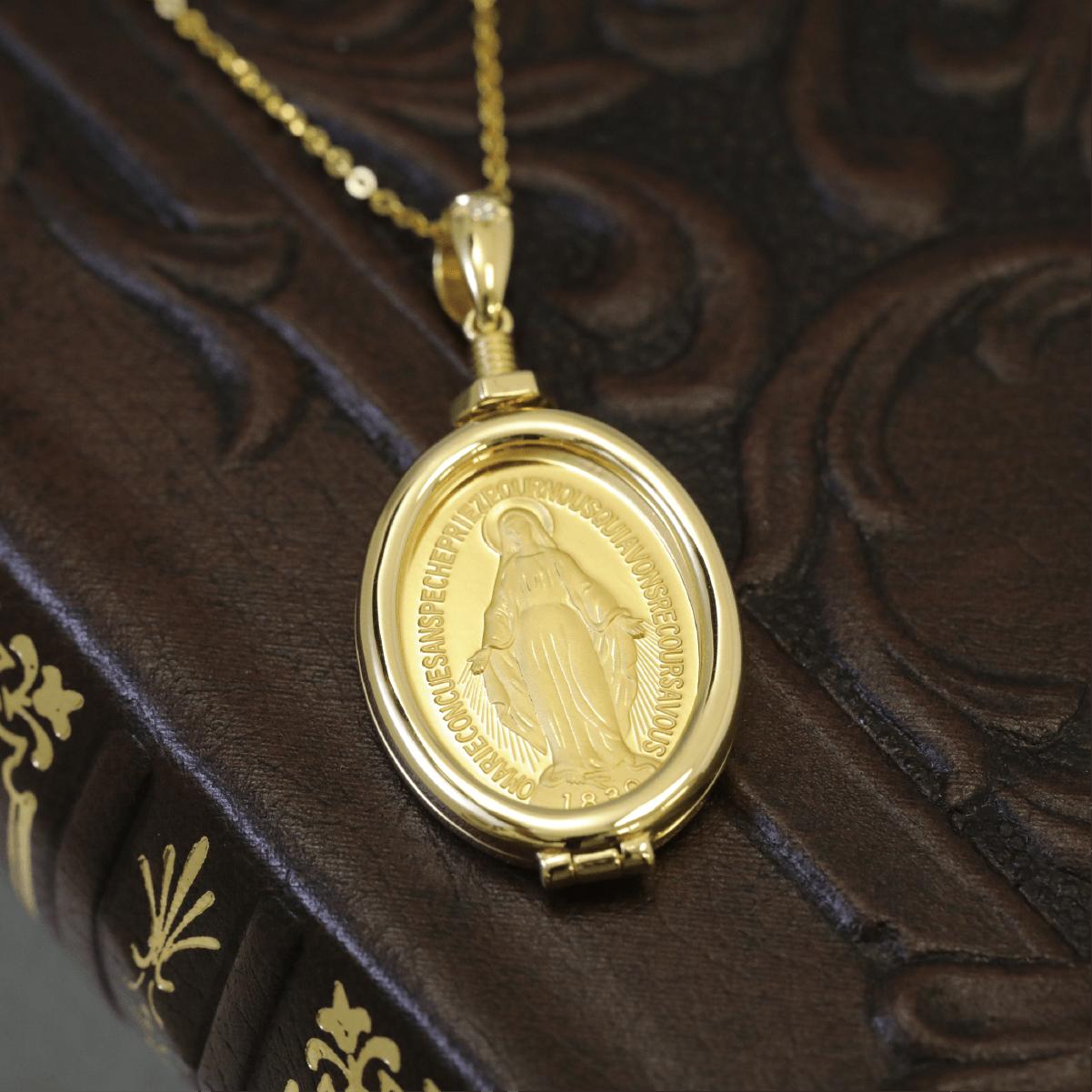 復刻「不思議のメダイ」アンティークゴールドメダル