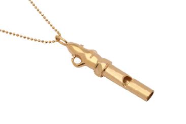 10金ホワイトゴールド「ダイヤモンド」ホイッスルペンダント
